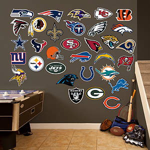 NFL Logo Collection Fathead Wall Decal